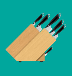 set of kitchen knives for various products vector image