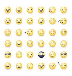 smileys icon set emoticons pictograms vector image