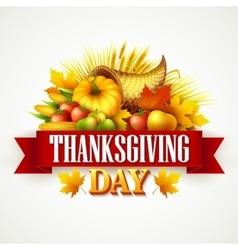a thanksgiving cornucopia full vector image