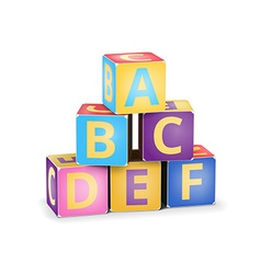ABC cubes pyramide vector image