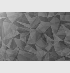 abstract gray triangle shapes overlap on dark vector image
