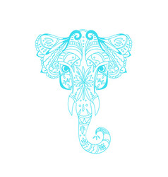 abstract head elephant vector image