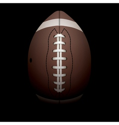 American Football on Black Background vector image