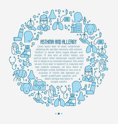 asthma and allergy concept for web page vector image