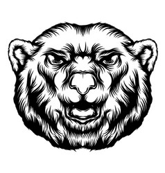 bear with big head for tattoo ideas vector image