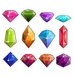 Big set jewels and diamonds icons vector