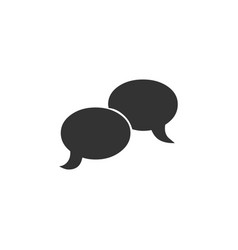 blank speech bubbles icon isolated flat design vector image