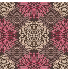 Brown seamless pattern with tracery ornaments vector image