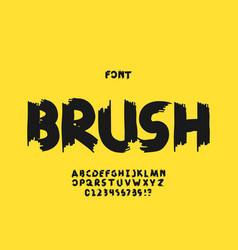 Brush font alphabet vector