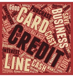 Business Credit Cards Versus Business Lines of vector