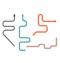 Caecilians worm like tropic amphibians flat icons vector