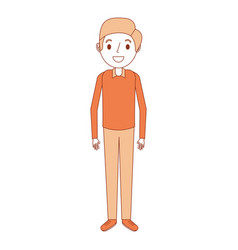 cartoon man male character standing person vector image