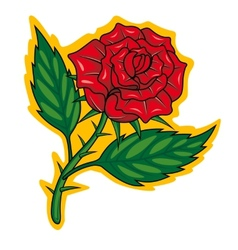 Cartoon rose vector image