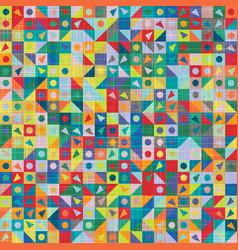 Childlike stylized funky rainbow shape tile swatch vector