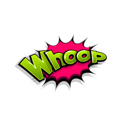 Comic text whop whoop logo sound effects vector
