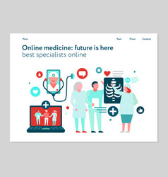 Digital medicine web banner vector