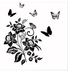 Elegance pattern with flowers narcissus on white vector image
