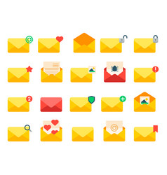 Email envelope cover icons communication vector