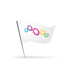 flag with gears vector image