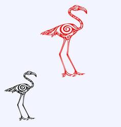 flamingo ornate vector image