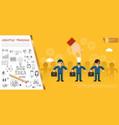 flat business idea concept vector image