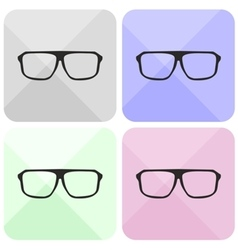 Glasses sign set isolated on white vector image