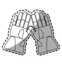 Glove of winter cloth design vector image