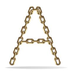 Golden letter vector