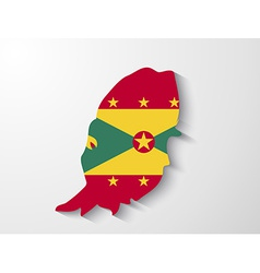 grenada country map with shadow effect vector image