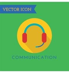 Headphone icon icon sound tools or dj vector