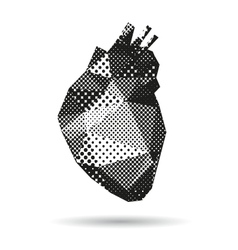 Heart abstract isolated vector