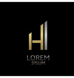 HI letters logo vector
