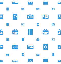 Id icons pattern seamless white background vector
