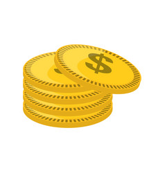 Isolated gold coin vector