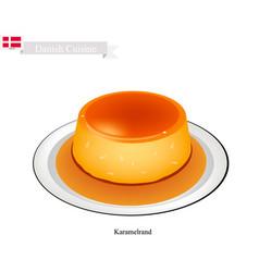 Karamelrand or creme caramel vector