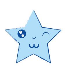 Kawaii cute funny star sparkly vector