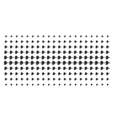 Lier shape halftone array vector