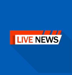 live news logo flat style vector image