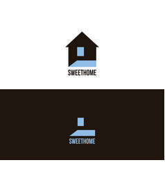Logo for interior design game on contrast and vector