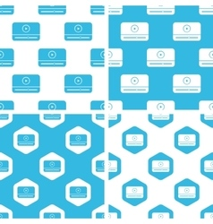 Mediaplayer window patterns set vector