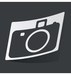 Monochrome camera sticker vector