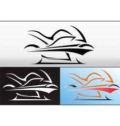 Motorbike logo design 2 vector image