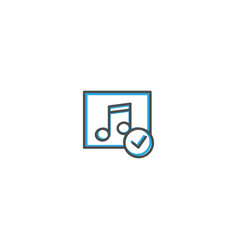 music player icon design interaction icon line vector image