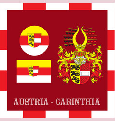 National ensigns of carinthia - austria vector