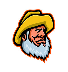 Old fisherman or fisher mascot vector