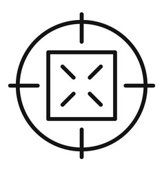 old sniper aim icon simple style vector image