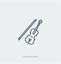outline icon music - violin and bow vector image
