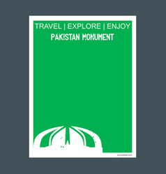 Pakistan monument islamabad pakistan monument vector