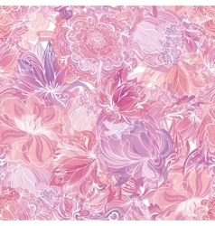 Pink Soft Floral Pattern vector