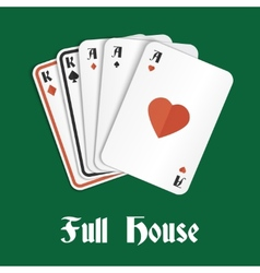Poker hand full house vector image